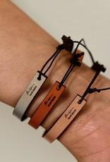 LaurelDenise Leather Word Bracelet with