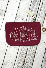 NOW Stay Wild Small Zipper Pouch