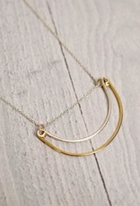 """Handmade Silver Rise Necklace, 18"""""""