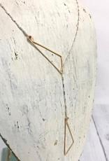 "Freshie & Zero Sterling Silver Sparkly Pivot Lariat Necklace (24"")"