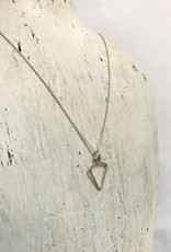 "Sterling Silver Wink (Small Diamond Shape) Necklace (16"")"