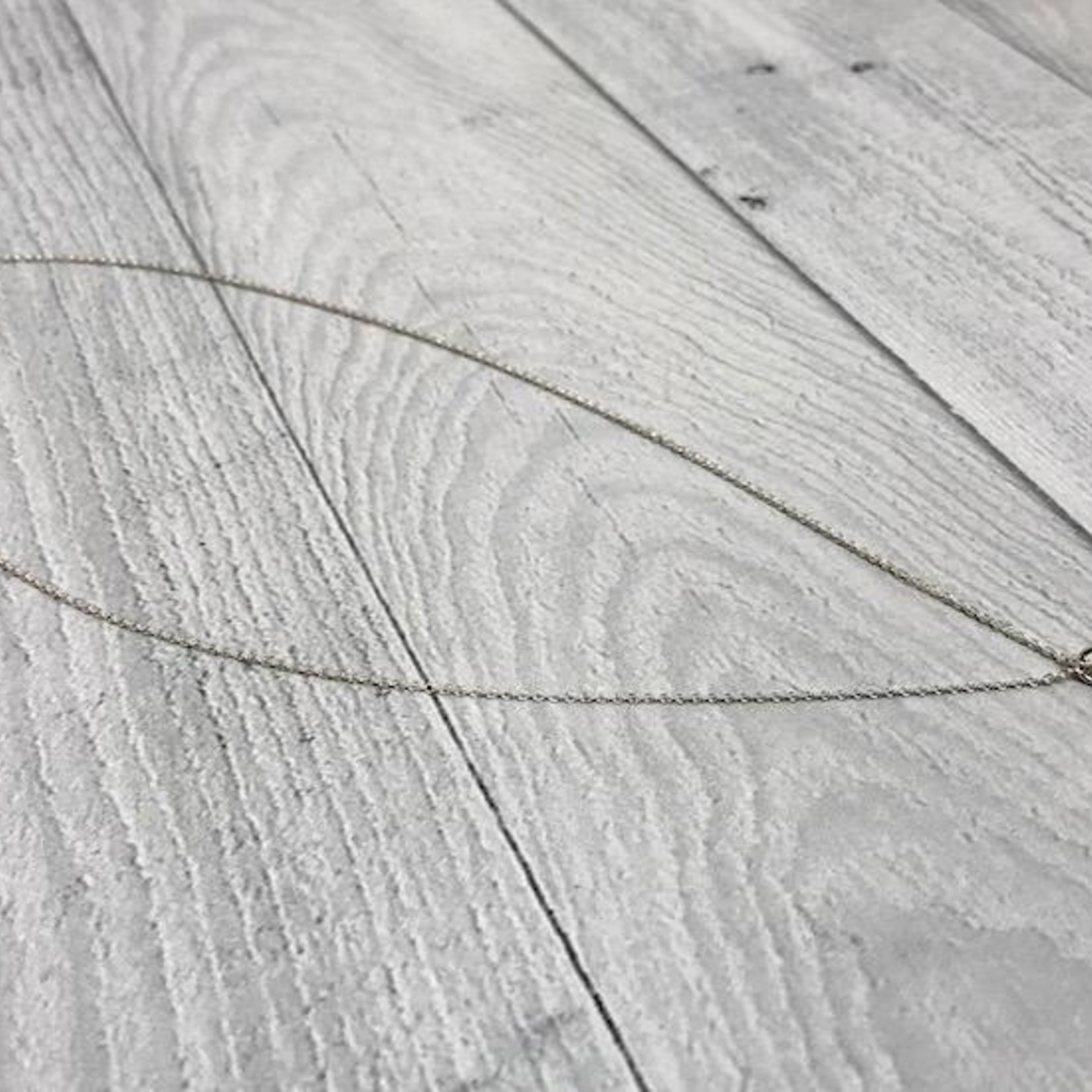 "Sterling Silver Wink (Small Diamond Shape) Necklace (16"")"