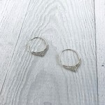 Sterling Silver Hoop Earrings with Filigree Points