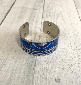 "1"" Cuff Bracelet made from Upcycled Beer Cans, Sun King Brewery, Version 1"