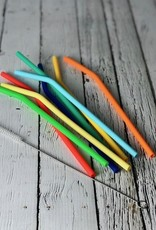 Set/8 Silicone Rainbow Sipping Straws