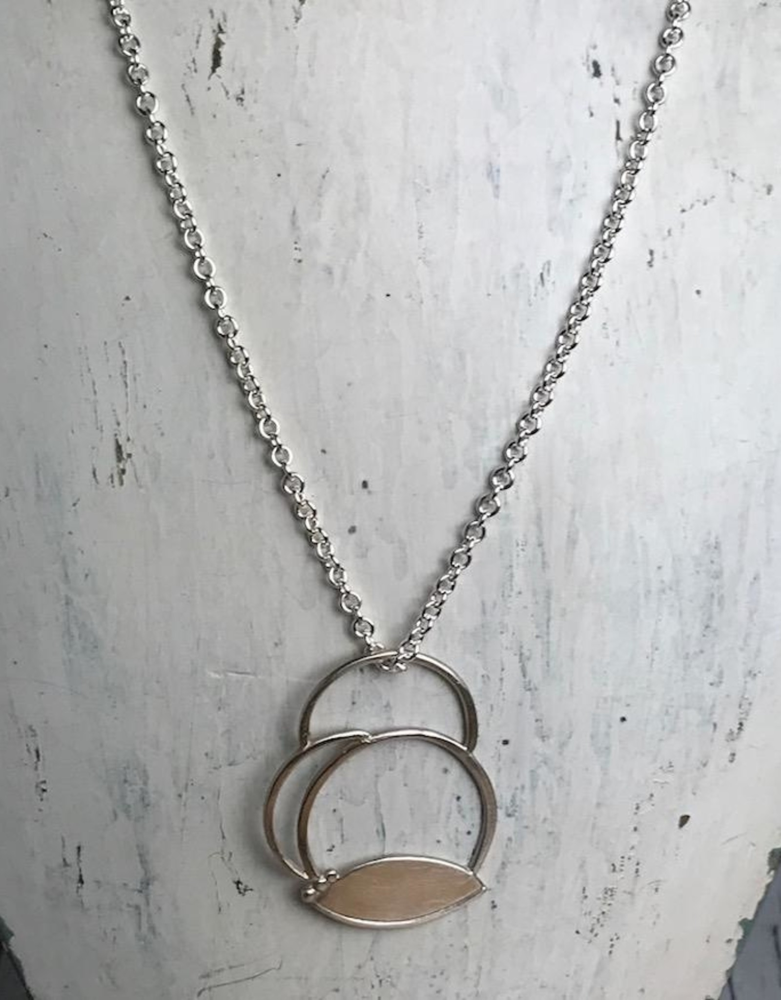 Julia Britell Handmade Silver Abstract Clouds Necklace
