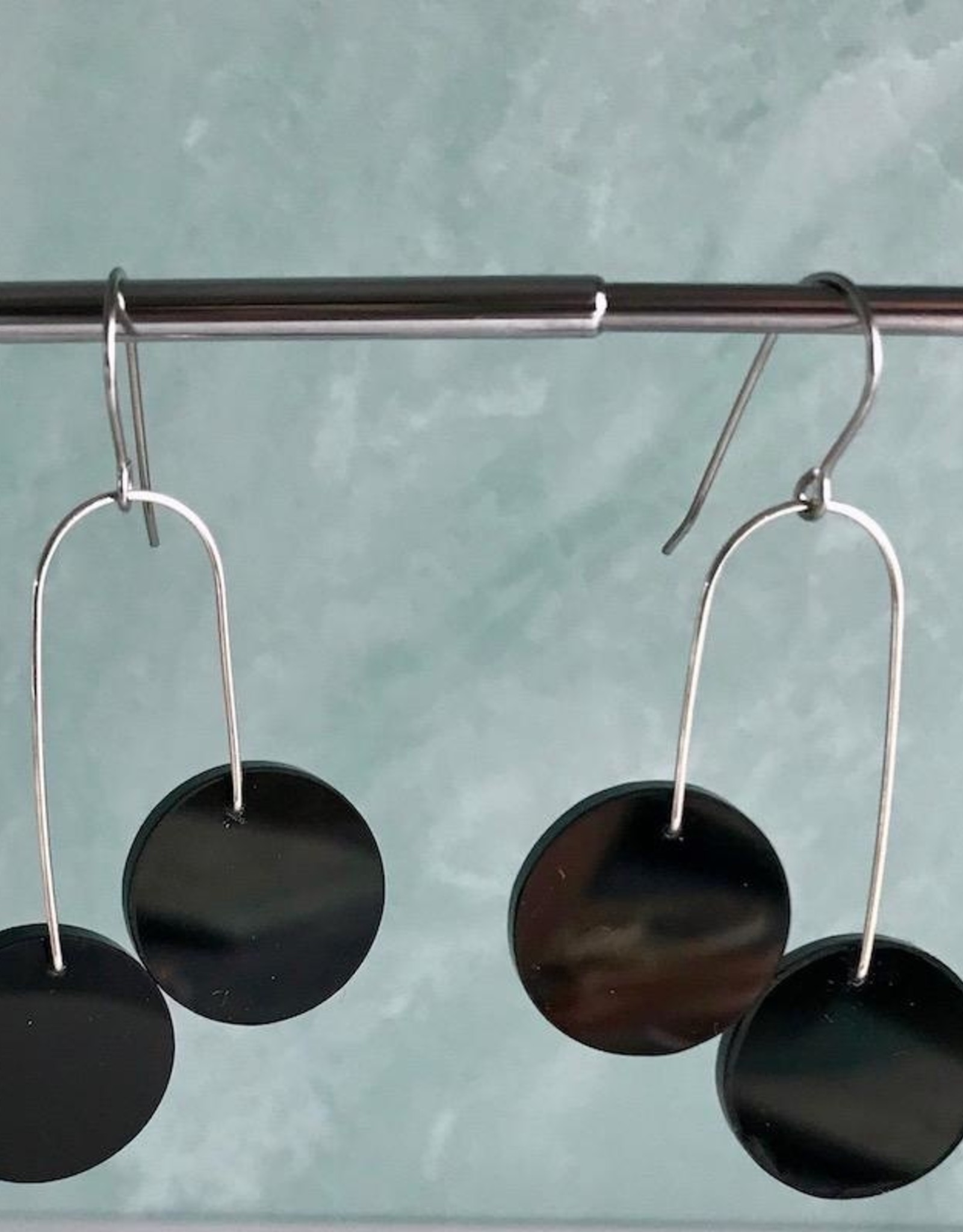 Modern Vincente Earrings made from Rescued Architectural Materials