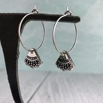 Dissent Collar Hoop and Charm Earrings Not Sterling Silver