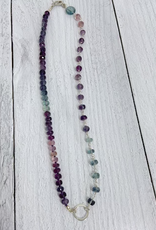 Handmade Sterling Silver and Fluorite Gemstone Necklace