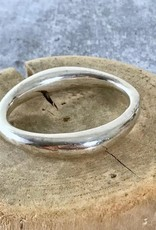 Sterling Silver Tapered Bangle Bracelet
