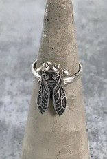 Sterling Silver Cicada Ring, Size 9