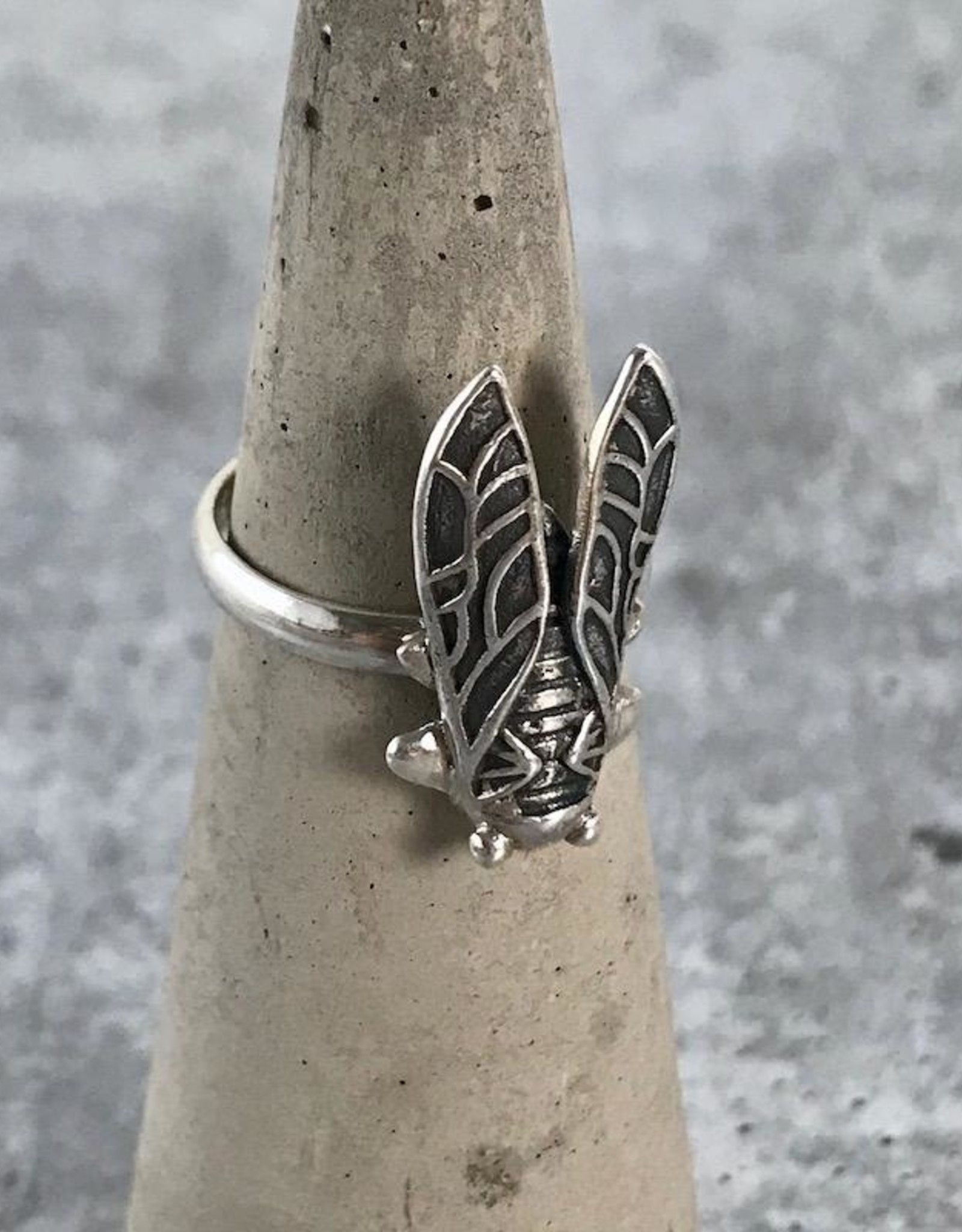 TigerMtn Sterling Silver Cicada Ring, Size 6