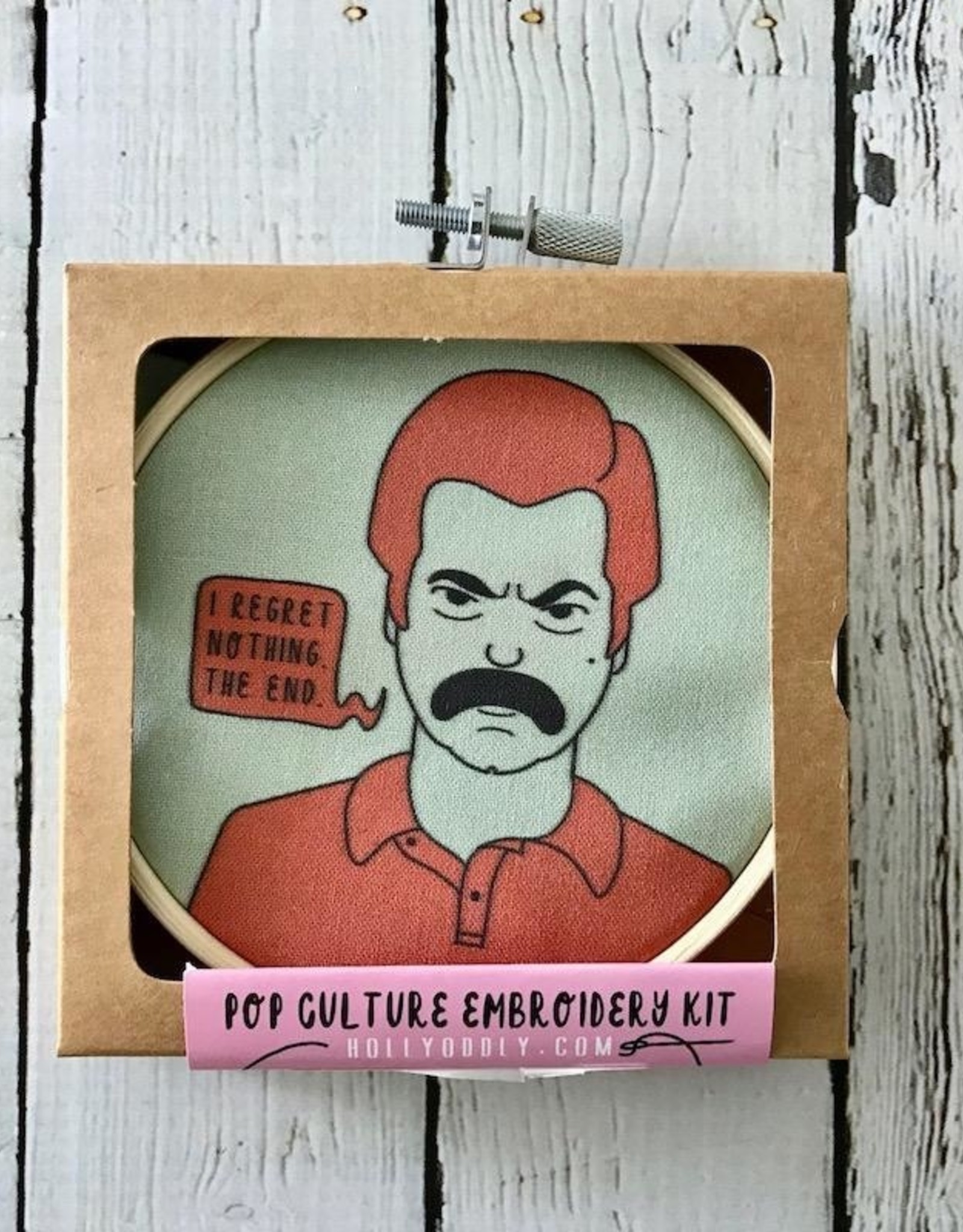 Ron Swanson Embroidery Kit