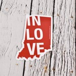 IN Love Indiana Sticker