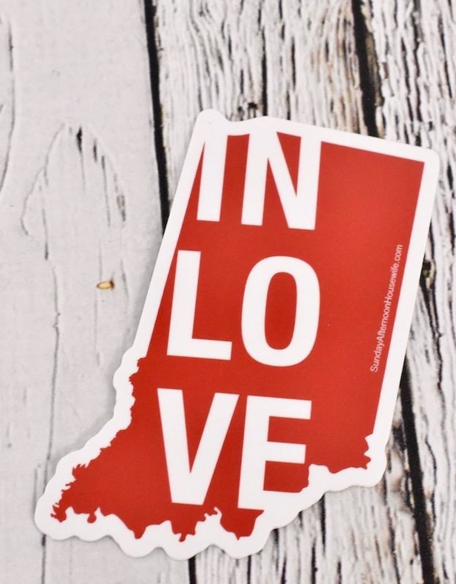 SUNDAY AFTERNOON HOUSEWIFE IN Love Indiana Sticker