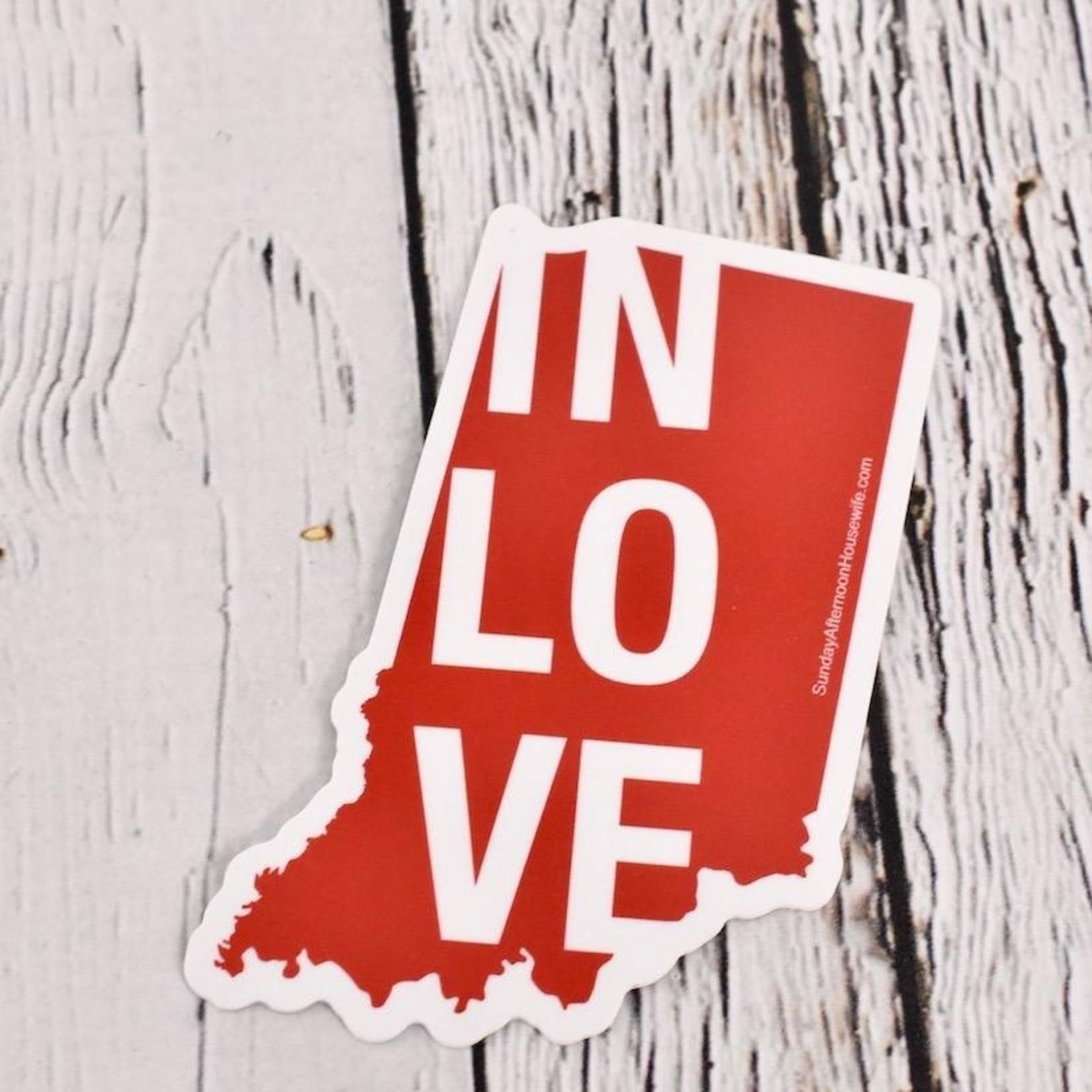 IN Love Indiana Sticker