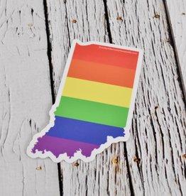 Rainbow Indiana Sticker