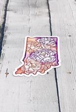 Multicolor Peony Indiana Sticker