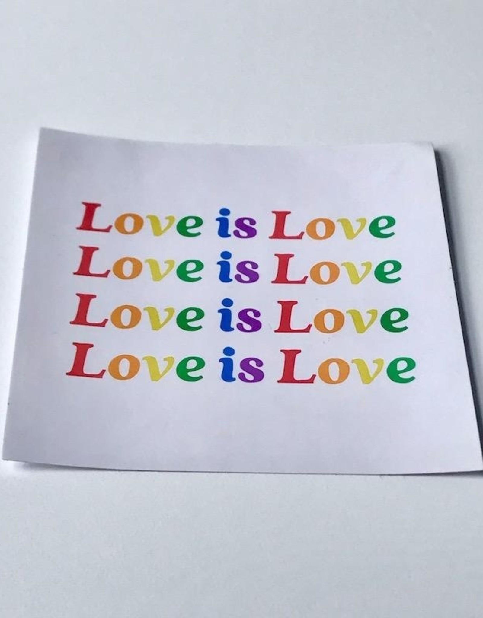 Made Au Gold Rainbow Love Is Love Sticker