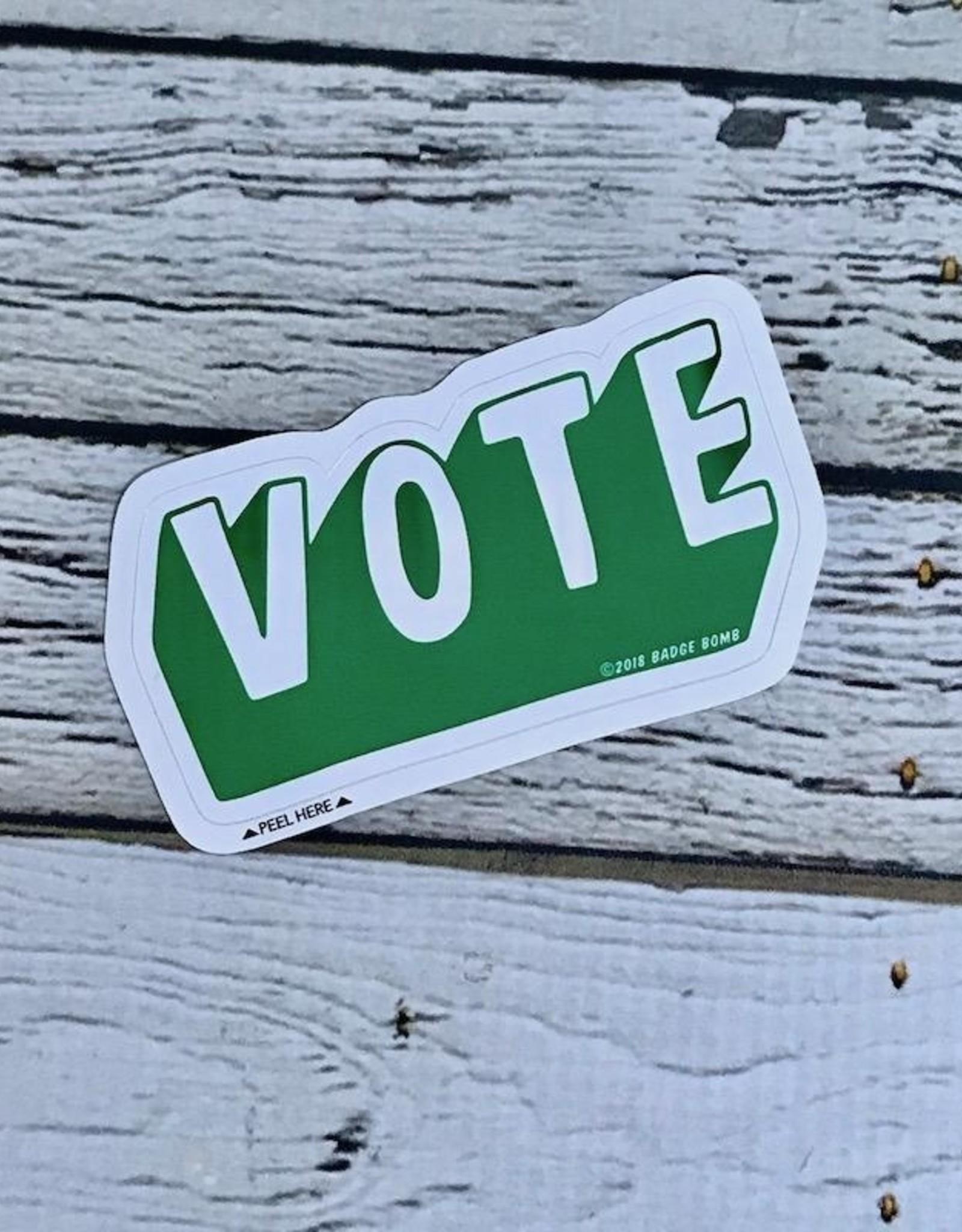 Green VOTE Sticker