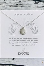 """Sterling Silver One in a Billion, Sparkle Star Disc Necklace, 16 +2"""""""