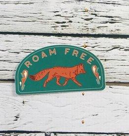 Pike Street Press Roam Free Fox Sticker