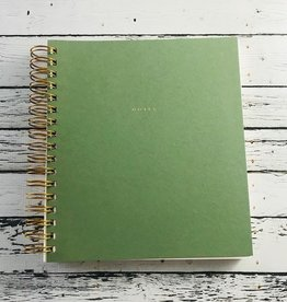 Wilde House Paper Jade Spiral Notebook