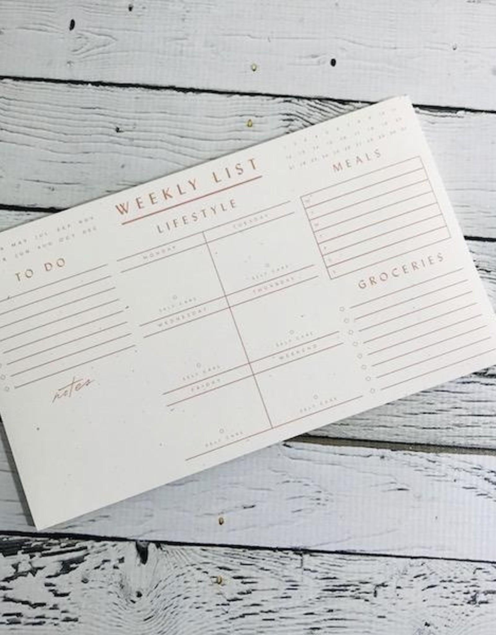 Wilde House Paper Weekly List Pad