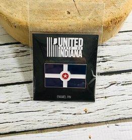 Indianapolis Flag Enamel Pin