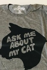 Ask Me About My Cat Unisex Tee Kin Ship