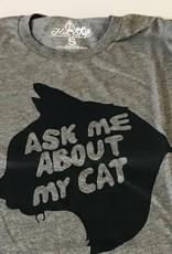 Kin Ship Goods Ask Me About My Cat Unisex Tee Kin Ship