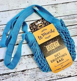 Blue Le Marche Shopping Bag