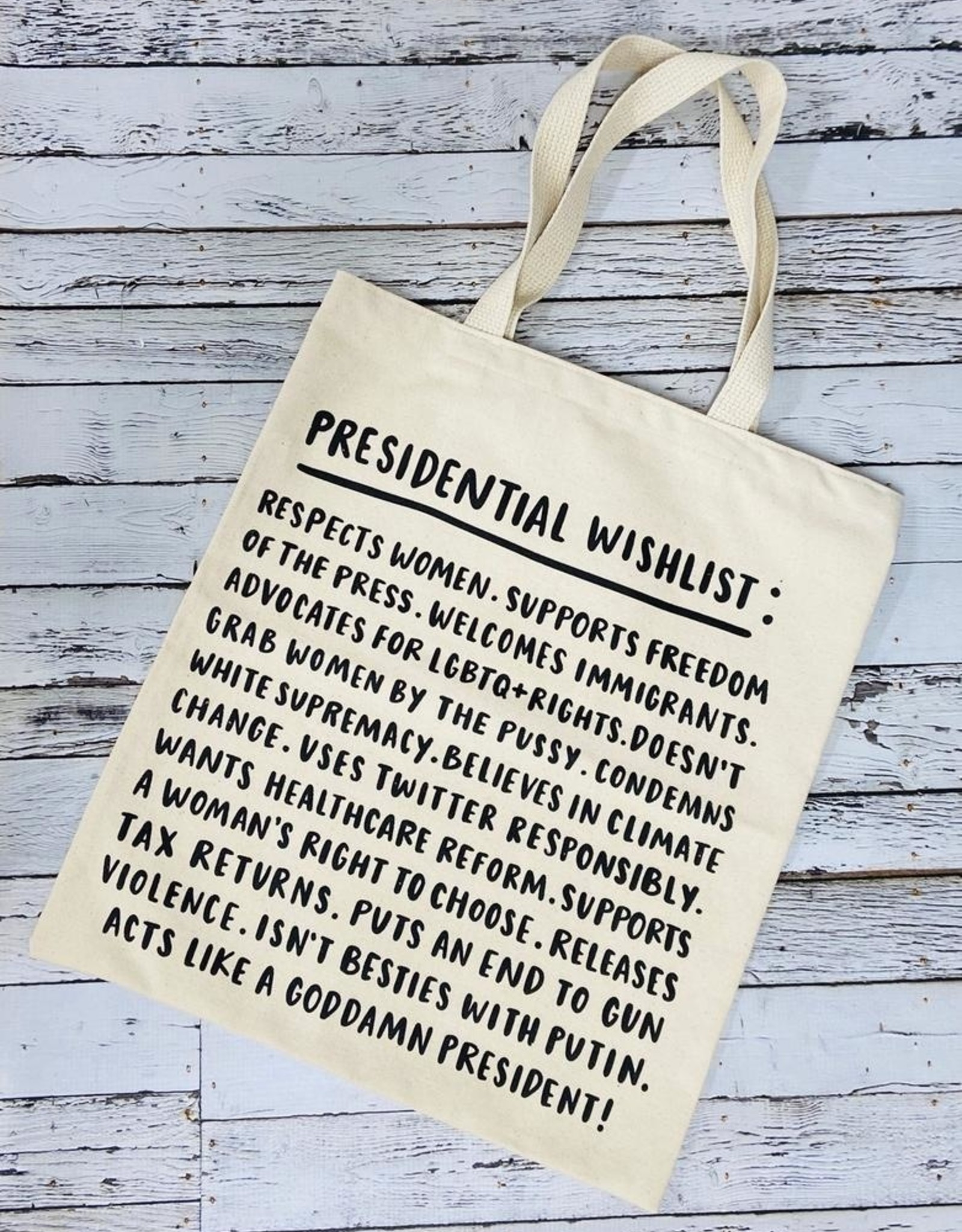 Presidential Wishlist Tote