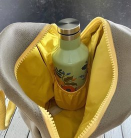 Yellow/Grey Lunch Zipper Tote