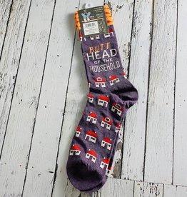 BlueQ Butthead Household Men's Crew Socks