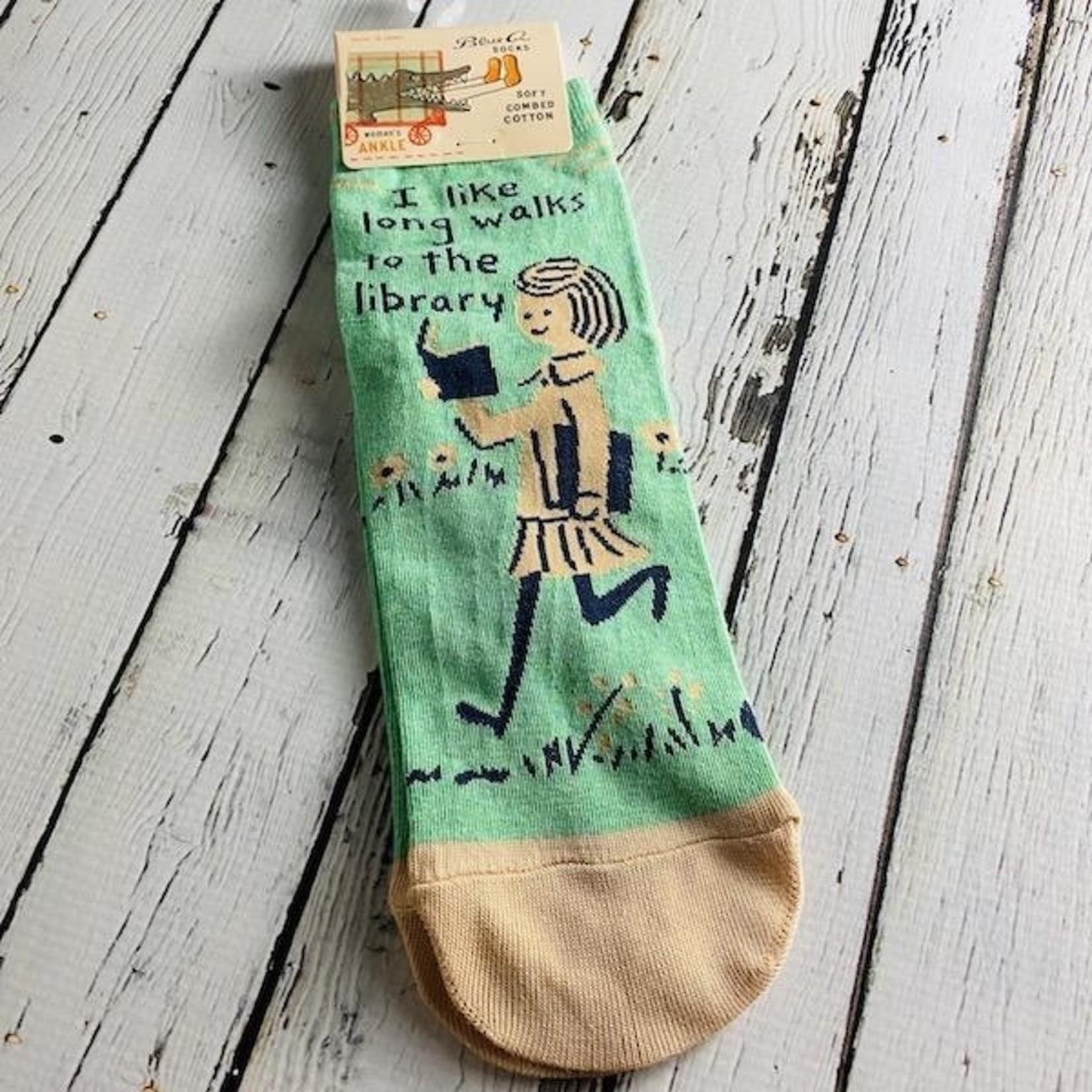 Long Walks Library Women's Crew Socks