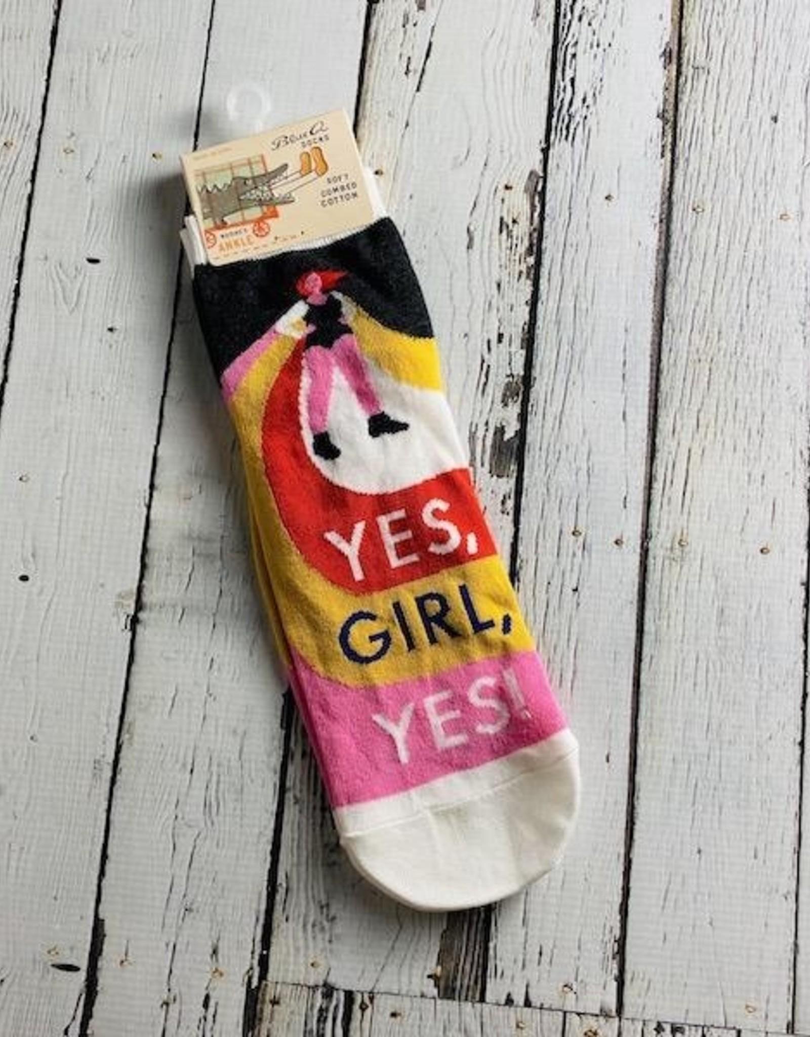 BlueQ Yes, Girl, Yes Women's Ankle Socks