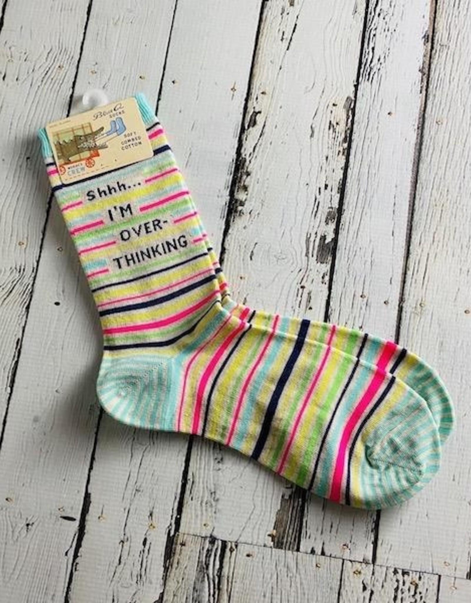 Shhh… I'm Overthinking Women's Crew Socks