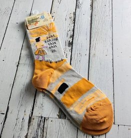 BlueQ Taking Shit In Women's Crew Socks