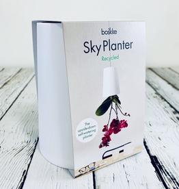 Small White Sky Planter