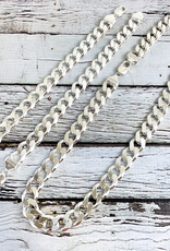 "Sterling Silver 9"" Heavy Curb 350 (12mm) Chain"