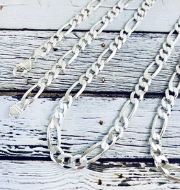 Sterling Silver Mid-Heavy Figaro 250 (9mm) Chain