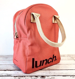 Red Lunch Zipper Tote