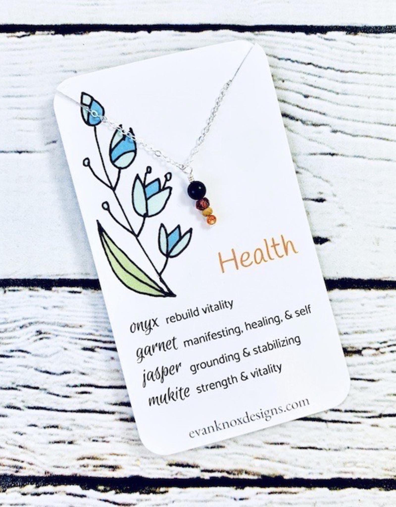 Handmade Silver Necklace with health gemstones