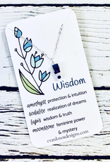 Handmade Silver Necklace with wisdom gemstones