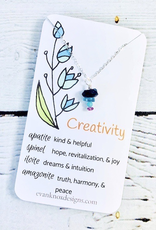 Handmade Silver Necklace with creativity gemstones