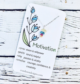 Handmade Silver Necklace with motivation gemstones