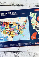 Chronicle Map of the USA Puzzle