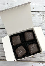 4pc Dark Chocolate Sea Salt Caramel box from Best Chocolate in Town