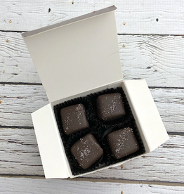 FRITTLE 4pc Dark Chocolate Sea Salt Caramel box from Best Chocolate in Town